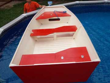 home-made plywood 10.5ft Johnboat